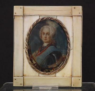 Antique 18th-19th Century Miniature Portrait Of Imperial Russian Duke Or Tsar