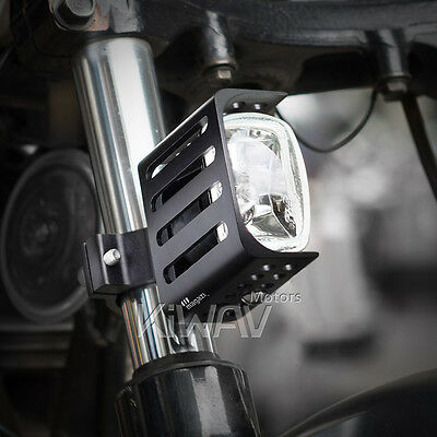 "Magazi 3"" square fog lamp metal mounting halogen H3 12V 55W for Harley x 1"