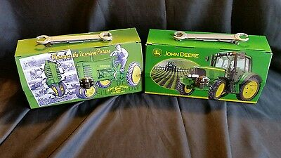 John Deere Toolbox Wrench Handle Lunch boxes. Set of 2.