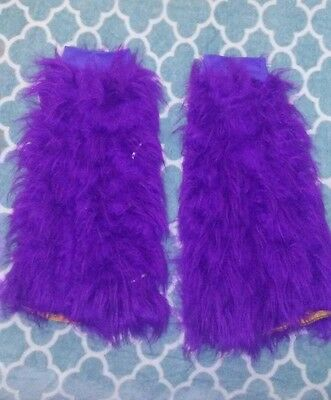 Raver Rave Leg Fuzzies Purple Light Up Rave Costume