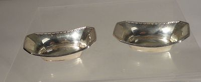 Antique Pair Vintage Webster Silver Co Sterling Salts Condiment Dishes Mass