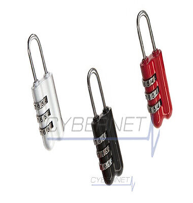 3 Combination Number Padlock Luggage Case Bag Security Travel Suitcase Pad Lock