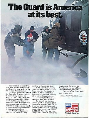 1981 U.S. Army National Guard Helicopter Rescue of Trapped Family Recruiting Ad