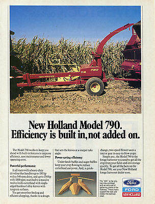1988 Ford New Holland 790 Forage Harvester Farm Tractor Print Ad