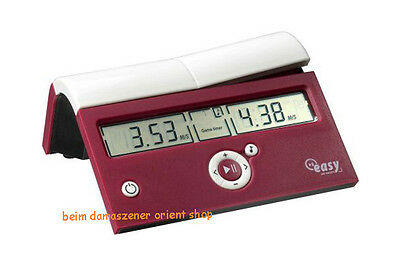 DGT Easy bordeaux Digitale Schachuhr  Uhr Game Timer digital NEU