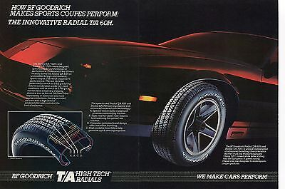 1984 BF Goodrich Radial T/A 60H Chevrolet Chevy Camaro Z28 2 Page Centerfold Ad