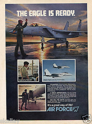 1978 Print Ad of Air Force Recruiting The Eagle Is Ready