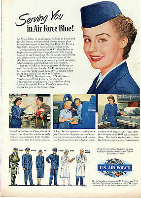 1951 Print Ad of United States U.S. Air Force Blue WAF