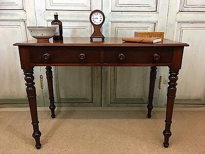 Antique Victorian Mahogany Side Table, Writing Desk