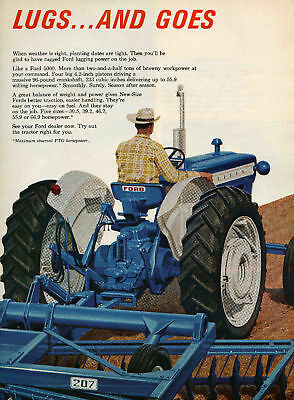 1966 Ford 5000 2 Page Farm Tractor Print Ad