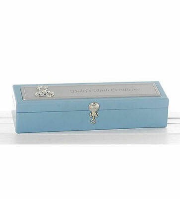 New Blue Boy's Birth Certificate Box / Certificate Holder / Baby Shower Gifts