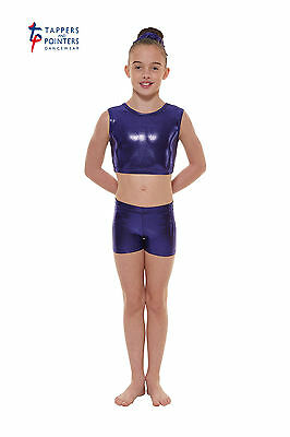 Shine crop top and shorts sets. By Tappers & Pointers dance wear. Quality items.