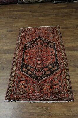 Fine Foyer S Antique Handmade Hamedan Persian Rug Oriental Area Carpet 3'5X6'6