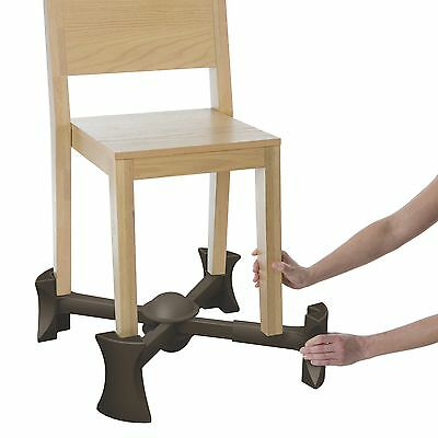 Kaboost Booster Seat for Dining, Chocolate - Goes Under the Chair - Portable