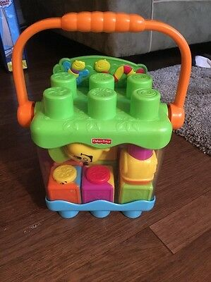 Fisher Price COUNT BUILD SNAIL PAIL Baby's Blocks