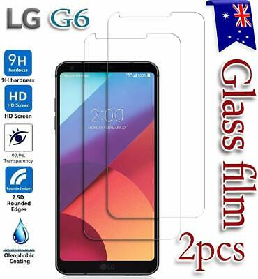 2X LG G6 Tempered Glass  / Plastic Screen Protector Film Guard LCD Protector
