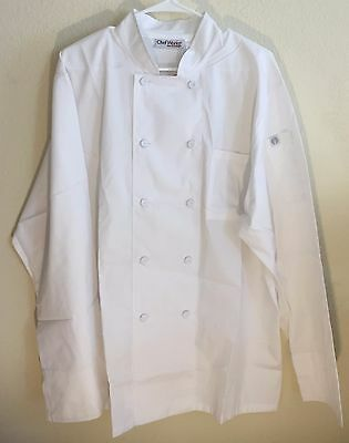 Chef Works Cool Vent Chef Coat / Jacket White Style JLLS-WHT-L Size Large