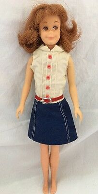 Vintage Straight Leg TITIAN Red Hair SKOOTER Doll With Tagged Skipper Dress