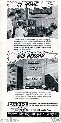 1951 Print Ad of Jackson Electrical Instrument Electronic Labs Temple University