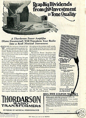 1928 Print Ad of Thordarson Electric Manufacturing Co Radio Power Amplifier
