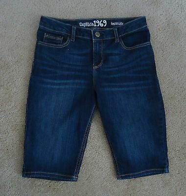 GAP KIDS Girls Adjustable Waist Bermuda Jean Shorts Sz 14 NEW!