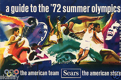 1972 16 Page Print Ad Sears Guide to the Summer Olympics w Jesse Owens Cy Young