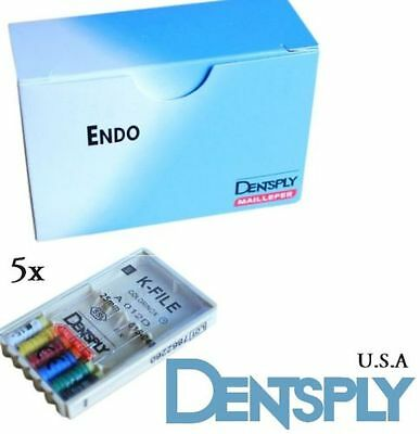 DENTSPLY NITI ENDODONTIC DENTAL K-FILES #15-40 - 5 pack