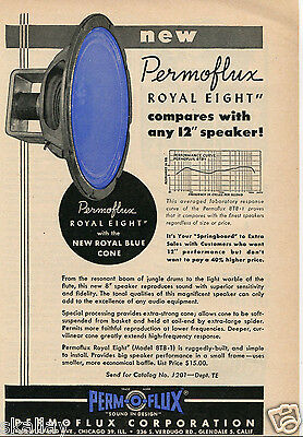 1950 Print Ad of Permoflux Corp 8T8-1 Royal Eight Speaker