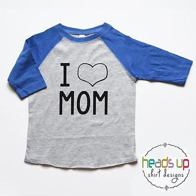 I Love Mom Baby Bodysuit Boy - Mother's Day t-shirt Toddler Boy/Girl - I Heart