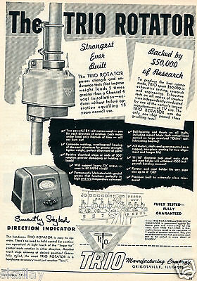 1952 Print Ad of Trio TV Rotator & Directional Indicator