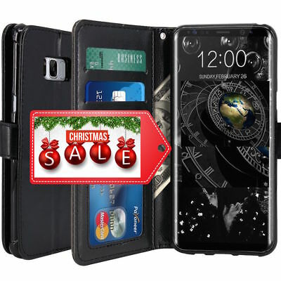 Leather Executive Book Wallet Phone Case Cover✔SP for Samsung Galaxy S8 S8 Plus
