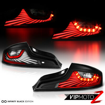 For 2006-2007 Infiniti G35 Coupe LED Light Bar Black Parking Signal Tail Lamps