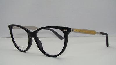New GUCCI GG 3818 CSA Black, Gold & Silver Frames Glasses Eyeglasses Size 53