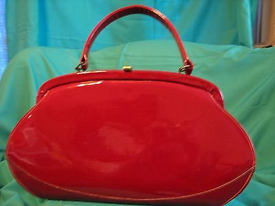 Vintage Retro 60's Red Patent Leather Purse