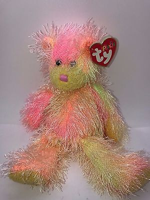 Ty Beanie Babies Punkies Collection Rainbow Plush Toy Bear 2002 Nwt