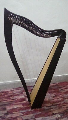 New Beautiful Professional Rosewood 36 String Lever Harp with Square Sound Box