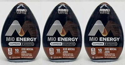 3 Mio Energy Liquid Water Enhancer ICED MOCHA JAVA 30 Servings Total