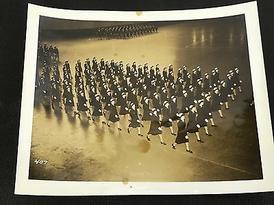 Vintage US Navy WAVES Marching In Formation 8X10 Photo