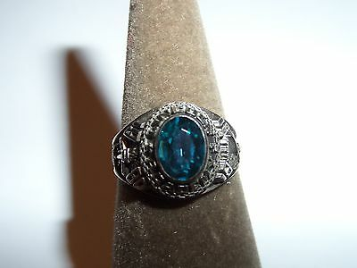 1980 Maine Lincoln Academy Ring Size 7 1/2 Blue Stone Quasar Plus