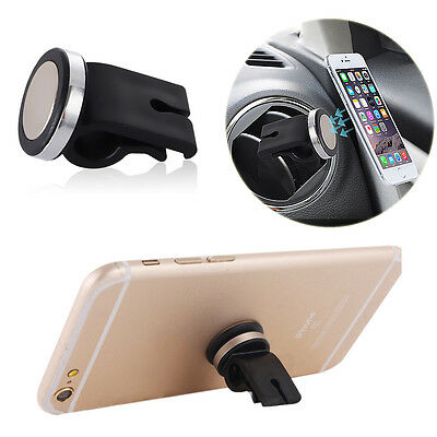 For Universal Mobile Cell Phone GPS Car Magnetic Vent Mount Stand Holder Black
