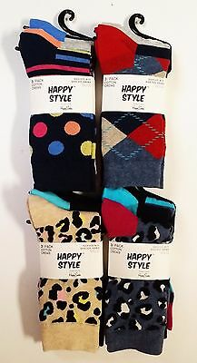 Happy Socks *4 PACK* 12 PAIR Womens Mens Career Dress Casual Crew Designer Style