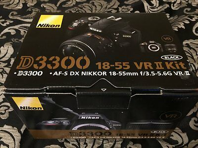 Nikon D3300 24.2 MP DSLR Camera Kit w/ AF-S DX 18-55mm VR II Lens - New (sealed)