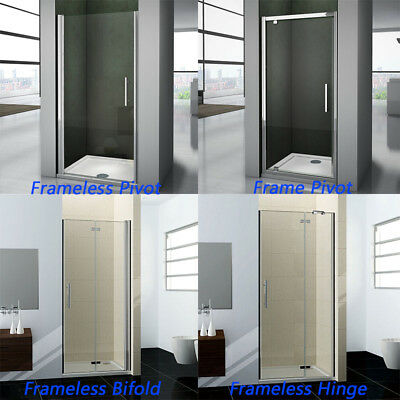 Frameless Frame Shower Enclosure Pivot Door Hinges Cubicle Glass Screen Bathroom