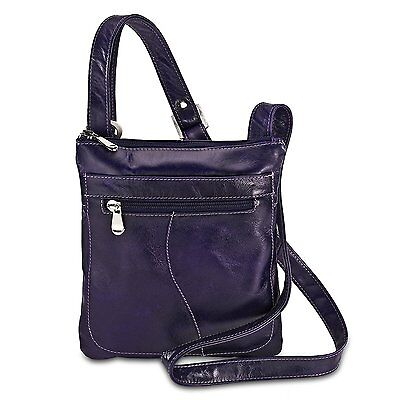 David King & Co. Florentine Slender Shoulder Bag 3598 Honey, Purple, One Size