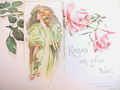 5a606260a97 1901 Victorian Bride s Book Wedding Pink Roses on Your Way Pretty Woman