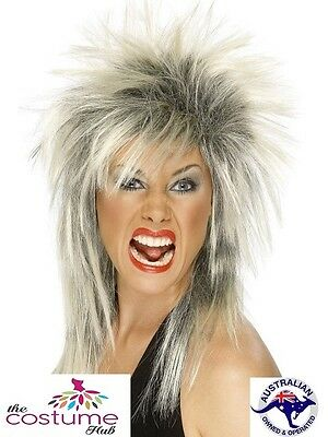 Womens 1980s WIG Punk Rock Spikey Mullet 80s Party Tina Turner Fancy Dress