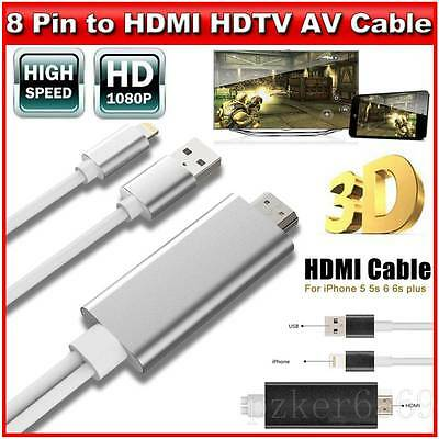 8Pin Lightning to HDTV AV HDMI Digital Adapter Output Cable for iPhone6 6s 5s AU