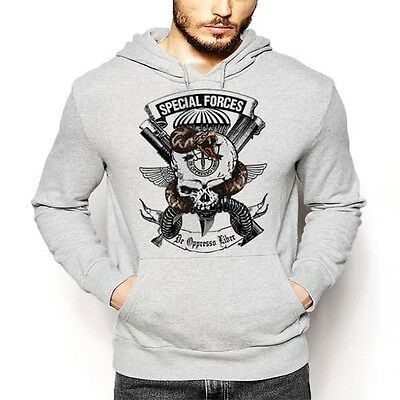 47bed6654 US Army Special Forces Hoodie De Oppresso Liber Grim Reaper Green Beret  Rangers