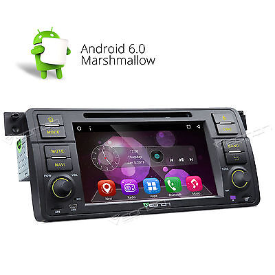 "For BMW 3 Series E46 M3 98-05 Car Stereo 8 Android 6.0 7"" Bluetooth GPS/DVD/USB"