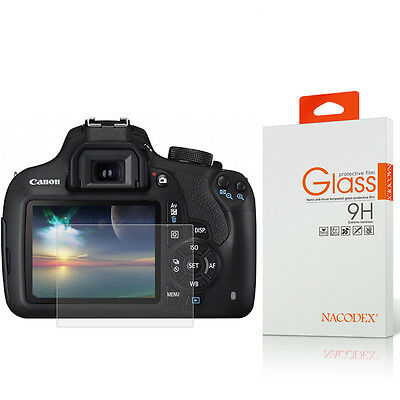NX HD Tempered Glass Screen Protector For Canon EOS 1200D /1300D Digital Camera